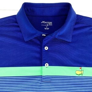 Masters Tech Men's Augusta National Golf Polo Blue